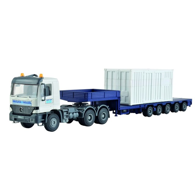 Kibri 13057 H0 MB ACTROS Begleittransporter zum LG 1550 BREUER & WASEL