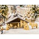 NOCH 14394 Weihnachtsmarkt-Krippe mit Figuren in...